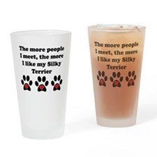 My Silky Terrier Drinking Glass