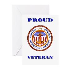 Proud Merchant Marine Veteran Greeting Cards (Pk o