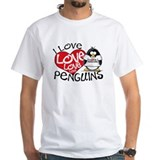 I Love Love Love Penguins Shirt