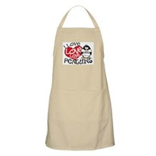 I Love Love Love Penguins BBQ Apron