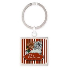 Cute Kittens in a Xmas Stocking Keychains