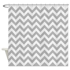 Chevron #3, Gray Shower Curtain
