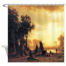 Yosemite Indian Encampment Shower Curtain