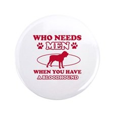 "Bloodhound mommy designs 3.5"" Button"