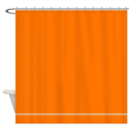 Solid Orange Shower Curtain By InspirationzStore