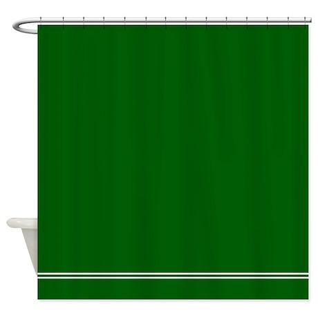 Dark Forest Green Shower Curtain By Inspirationzstore