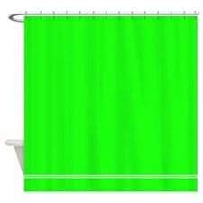 Neon Green Shower Curtain