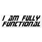 Fully Functional Bumper Sticker - Perfect answer to just about ANY question. - Availble Colors: White,Clear