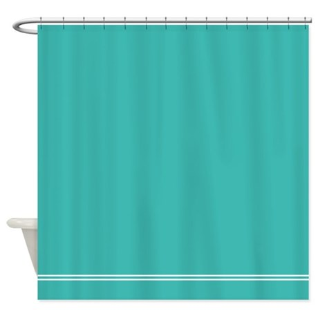 Turquoise blue shower curtain by inspirationzstore for Aqua colored bathroom accessories