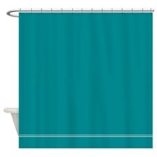 Teal Blue Shower Curtain