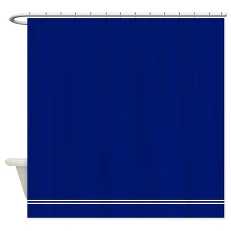 Dark Navy Blue Shower Curtain by InspirationzStore