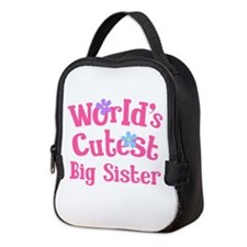 World's Cutest Big sister Neoprene Lunch Bag