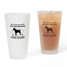 Boxer mommy gifts Drinking Glass