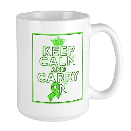 Lyme Disease Keep Calm Carry On Large Mug