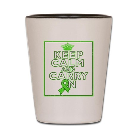 Lyme Disease Keep Calm Carry On Shot Glass
