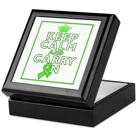 Lyme Disease Keep Calm Carry On Keepsake Box