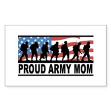 Proud Army Mom Vinyl Bumper Stickers