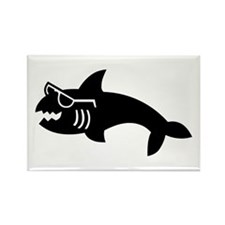 Hipster Shark Rectangle Magnet