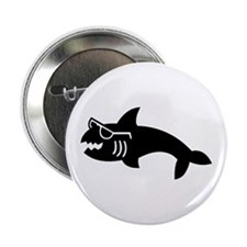 "Hipster Shark 2.25"" Button"