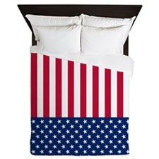 USA Flag Queen Duvet