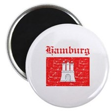 "Hamburg flag designs 2.25"" Magnet (10 pack)"
