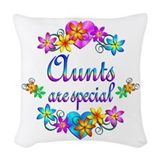 Aunts are Special Woven Throw Pillow