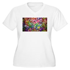 Origami Crane Madness Plus Size T-Shirt