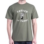 Father of Twins Dark T-Shirt