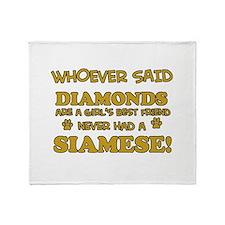 Siamese cat lover designs Throw Blanket