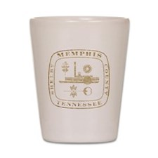 Vintage Memphis Shot Glass