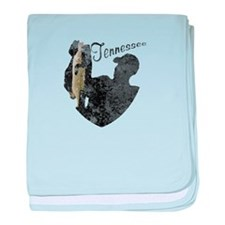 Tennessee Fishing baby blanket