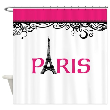 Pink Paris Shower Curtain By InspirationzStore