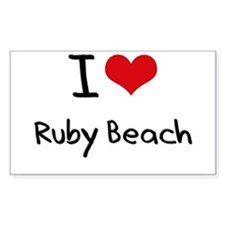 I Love RUBY BEACH Decal