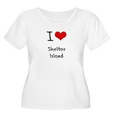 I Love SHELTER ISLAND Plus Size T-Shirt