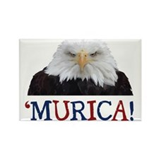 Murica! Bald Eagle Rectangle Magnet (100 pack)