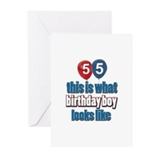 55 year old birthday boy Greeting Cards (Pk of 10)