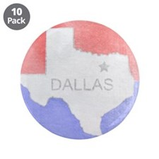 "Vintage Dallas Flag 3.5"" Button (10 pack)"
