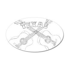 Texas Guitars Wall Decal