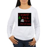I Want Erik for Christmas Women's Long Sleeve Tee