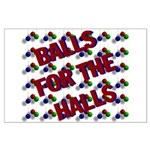 Balls For The Halls Large Poster