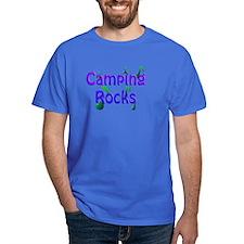 Camping Rocks Blue T-Shirt