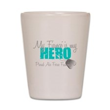 My Fiance is my Hero Shot Glass