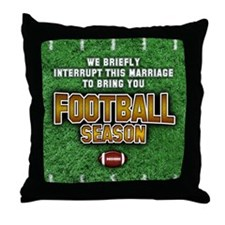"""We Interrupt This Marriage"" Throw Pillow"