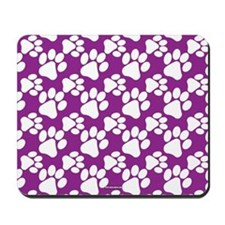 Dog Paws Purple Mousepad