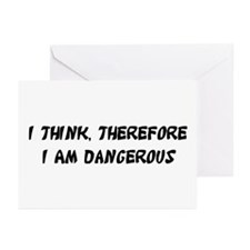 Dangerous Greeting Cards (Pk of 10)