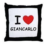 I love Giancarlo Throw Pillow
