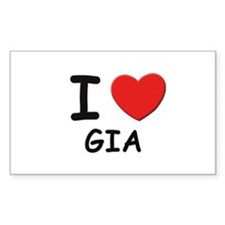 I love Gia Rectangle Decal