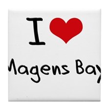 I Love MAGENS BAY Tile Coaster