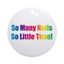 Manicurist Christmas Tr Ornament (Round)