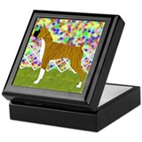 Flashy Brindle Boxer Keepsake Box